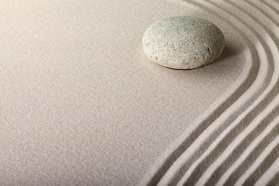 Zen Sand Stone Garden Photograph