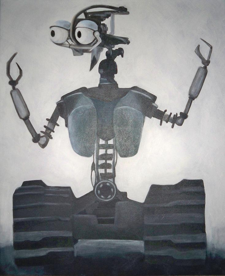 Robot Painting - 10-18 by Jeanelle Demers