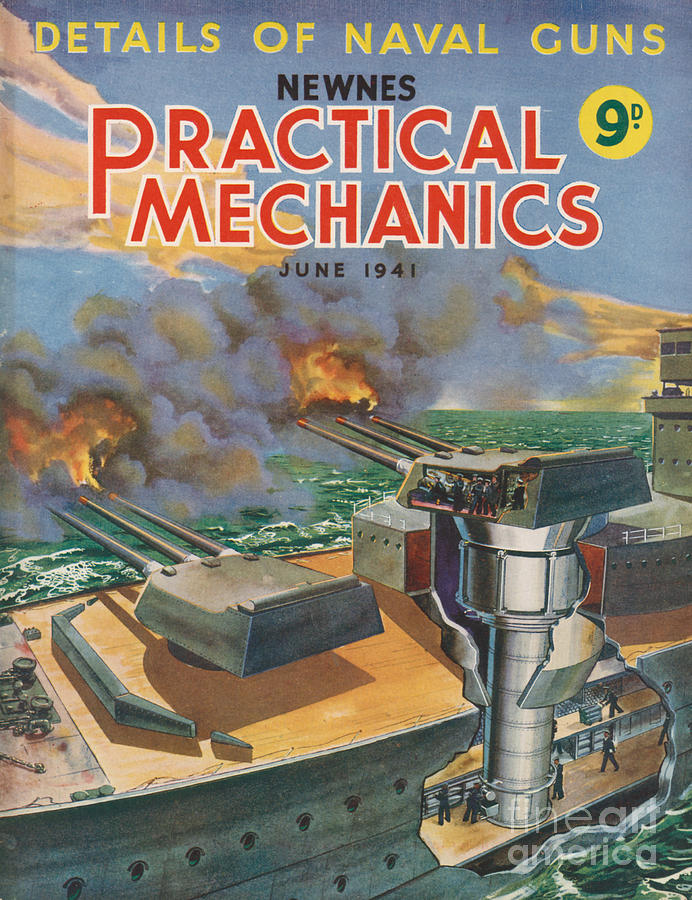 1940s Uk Practical Mechanics Magazine Drawing