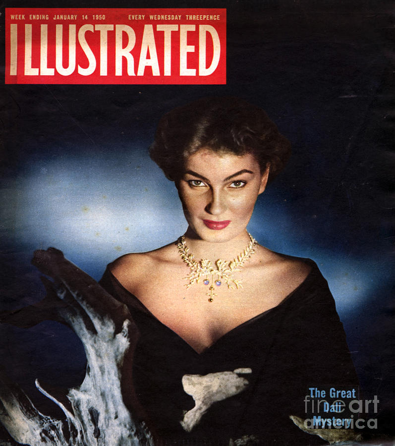 1950s Uk Illustrated Magazine Cover Drawing  - 1950s Uk Illustrated Magazine Cover Fine Art Print