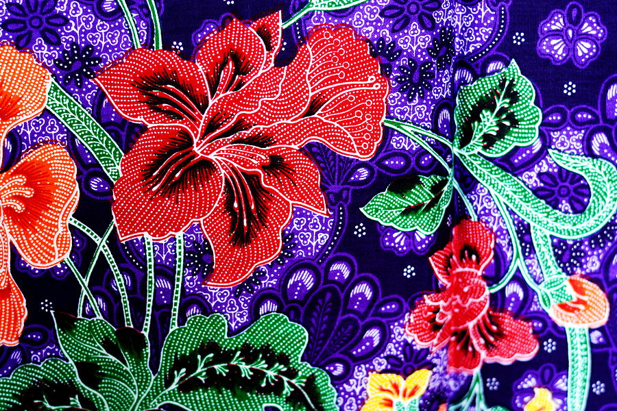 Colorful Batik Cloth Fabric Background  Tapestry - Textile