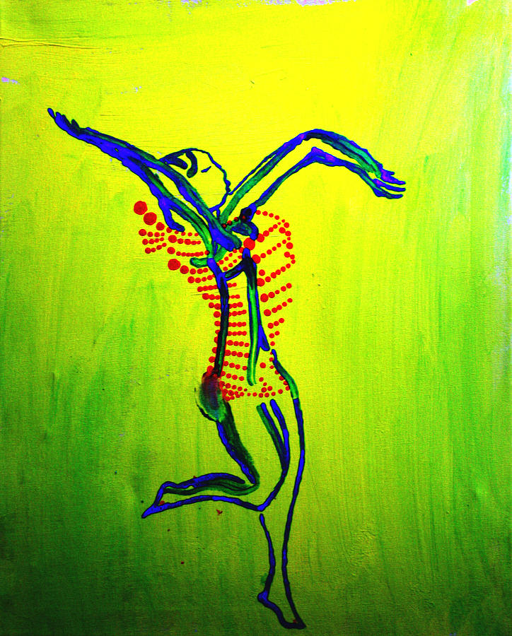 Dinka Dance - South Sudan Painting  - Dinka Dance - South Sudan Fine Art Print