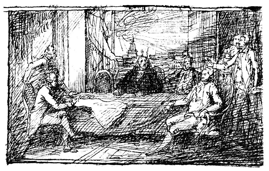 Treaty Of Paris, 1783 Photograph