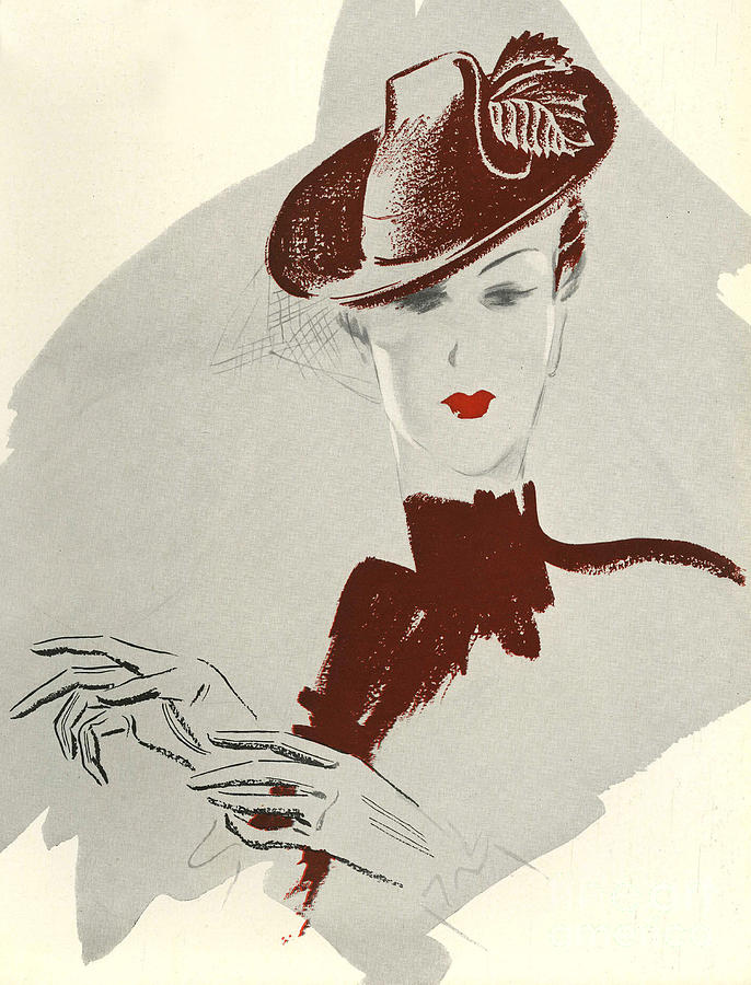 1930Õs Drawing - WomenÕs Fashion 1930s 1939 1930s Uk by The Advertising Archives