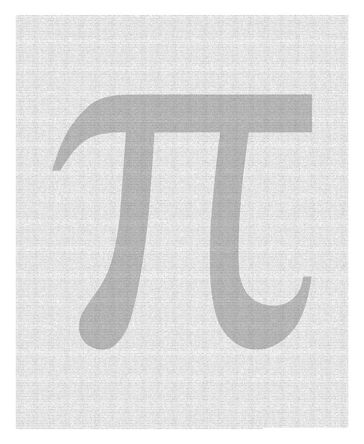 100 Thousand Pieces Of Pi Digital Art  - 100 Thousand Pieces Of Pi Fine Art Print