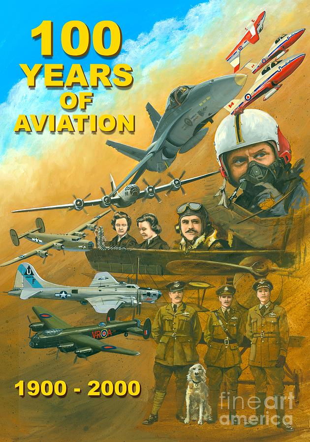 100 Years Of Aviation Painting  - 100 Years Of Aviation Fine Art Print