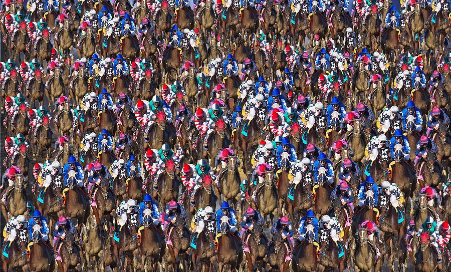 1000 Horses Digital Art