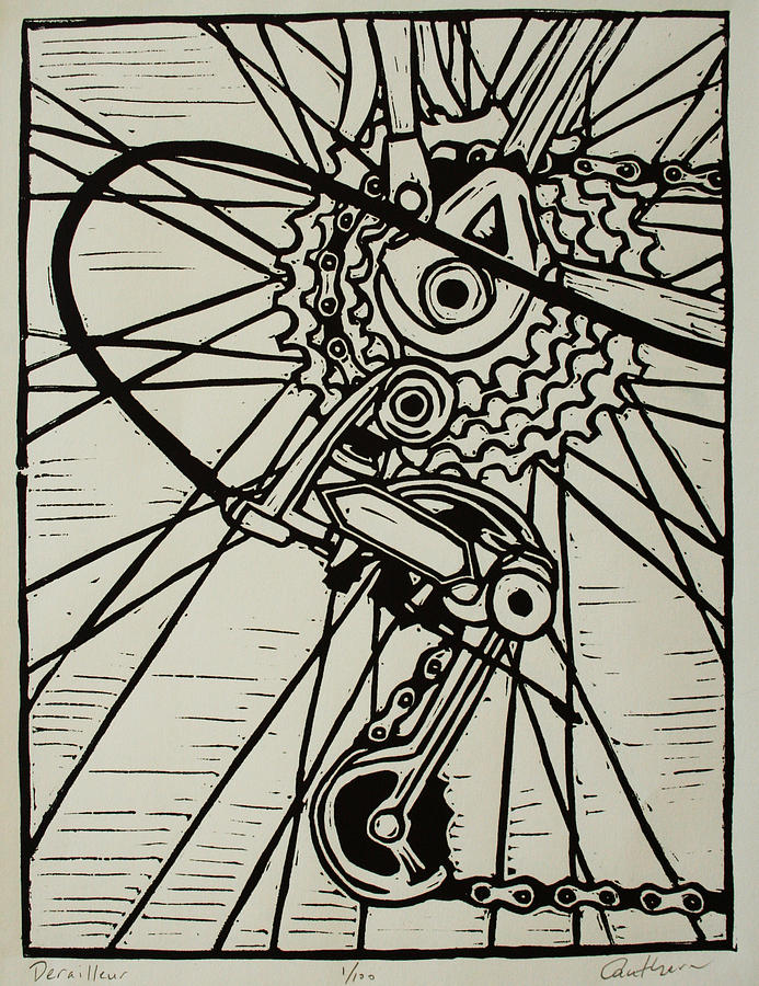 Printmaking Drawing - Derailluer by William Cauthern