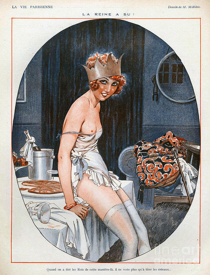 La Vie Parisienne  1926 1920s France Cc Drawing  - La Vie Parisienne  1926 1920s France Cc Fine Art Print