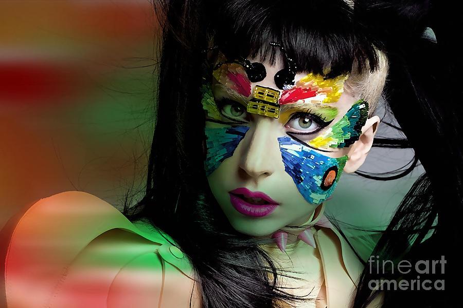 Lady Gaga Mixed Media
