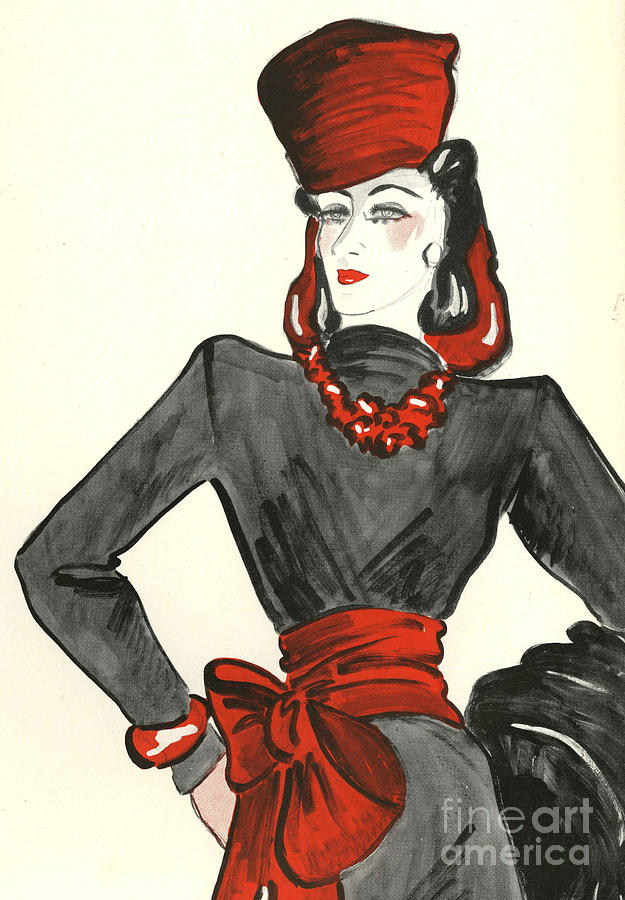 Women�s Fashion 1930s 1939 1930s Uk Drawing