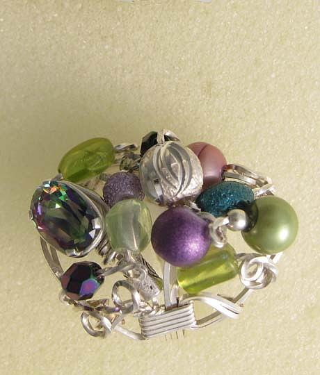1172 Bling Bling Cluster Ring Jewelry by Dianne Brooks