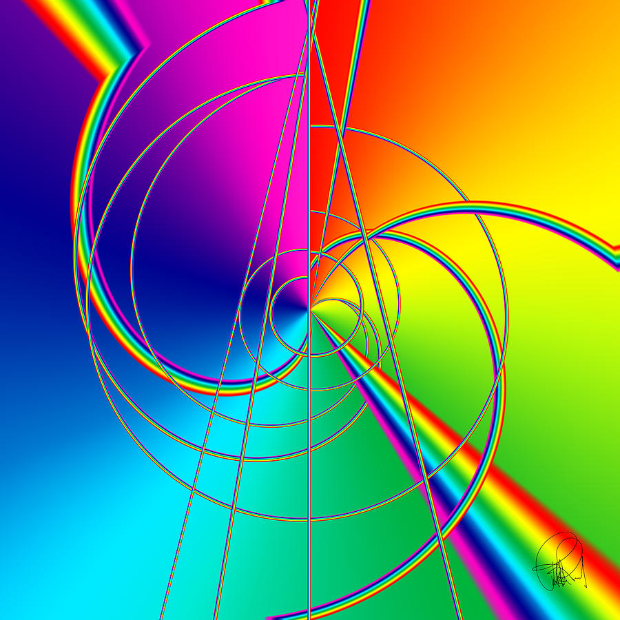 Depression Color Therapy Inside A Rainbow Digital Art