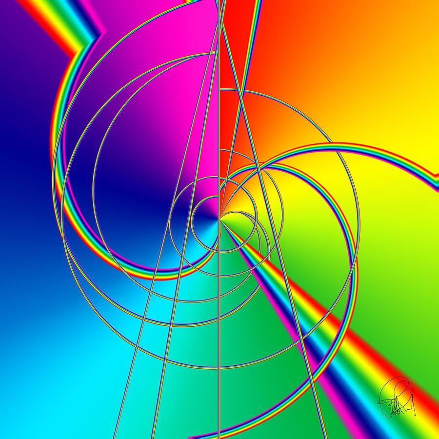 Rainbow Digital Art - Depression Color Therapy Inside A Rainbow by Sir Josef - Social Critic - ART