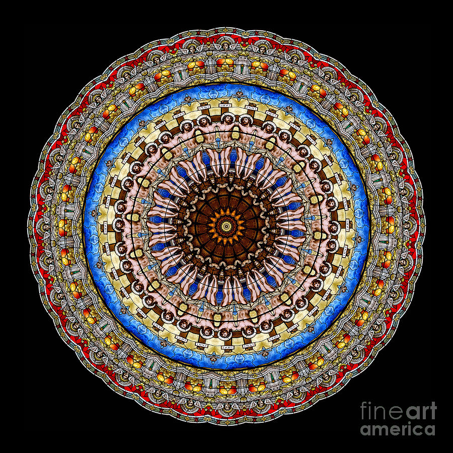 Kaleidoscope Stained Glass Window Series Photograph