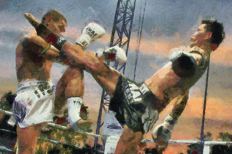 Muay Thai Arts Of Fighting Digital Art