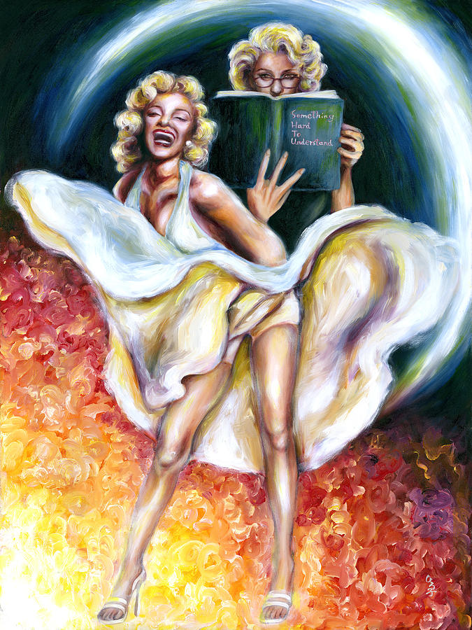 Marilyn Monroe Parody Painting - 12 Signs Series Gemini by Hiroko Sakai