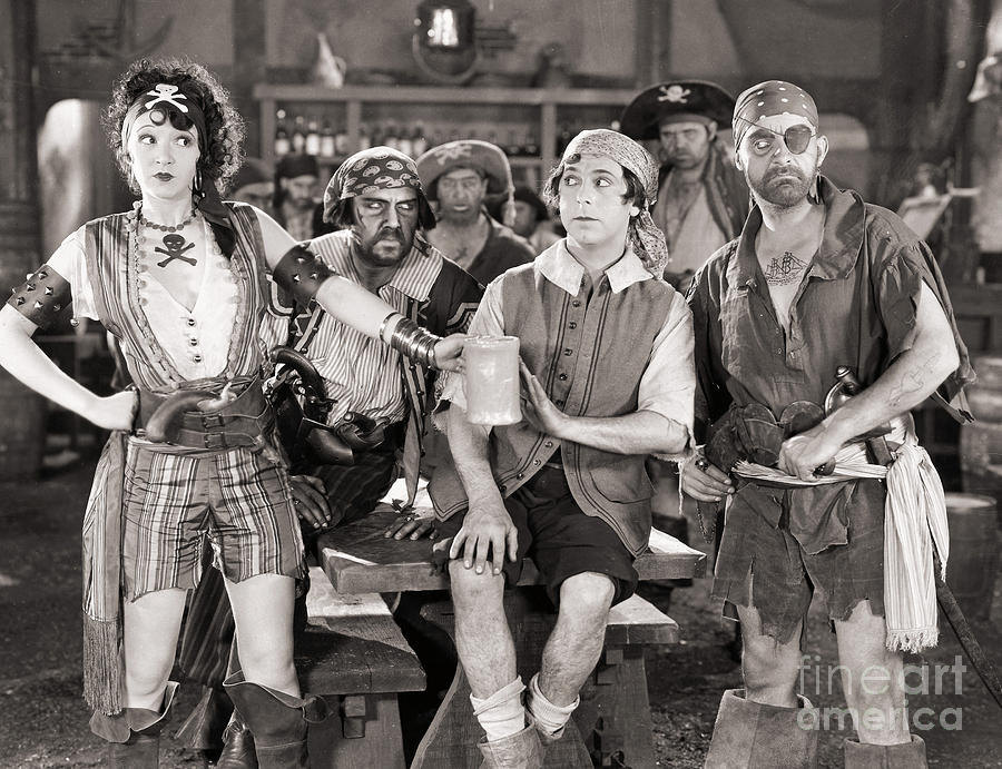Silent Film Still: Pirates Photograph