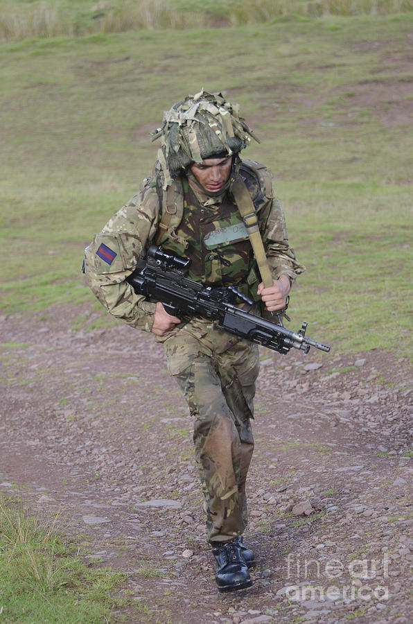 Welsh Guards Training Photograph