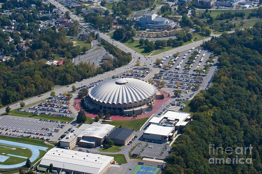 aerials of WVVU campus Photograph