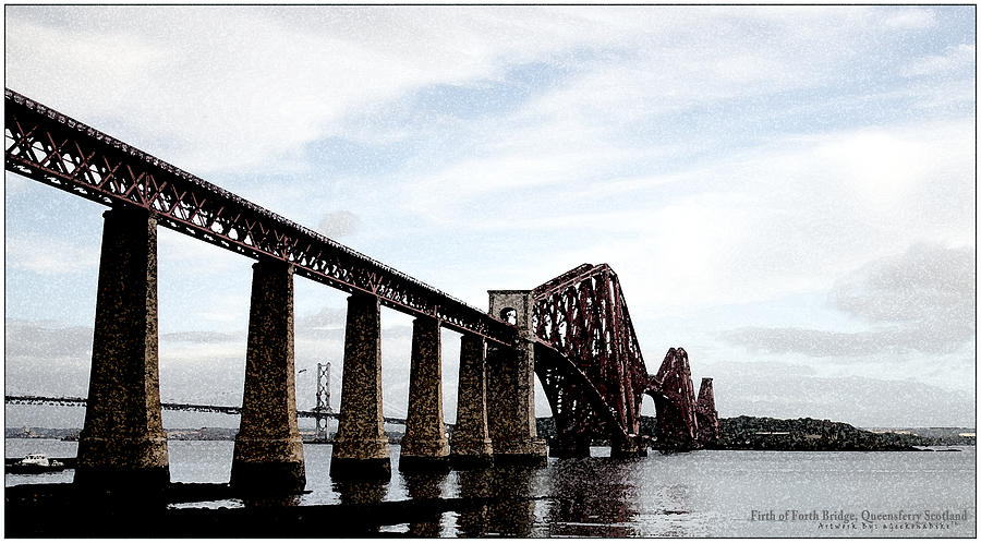 Firth Of Forth Bridge Digital Art  - Firth Of Forth Bridge Fine Art Print