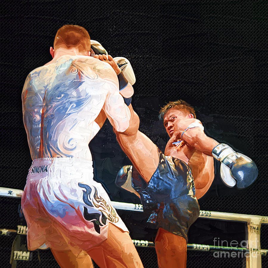 Muay Thai Arts Of Fighting Digital Art