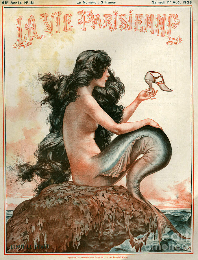 1920s France La Vie Parisienne Magazine Drawing