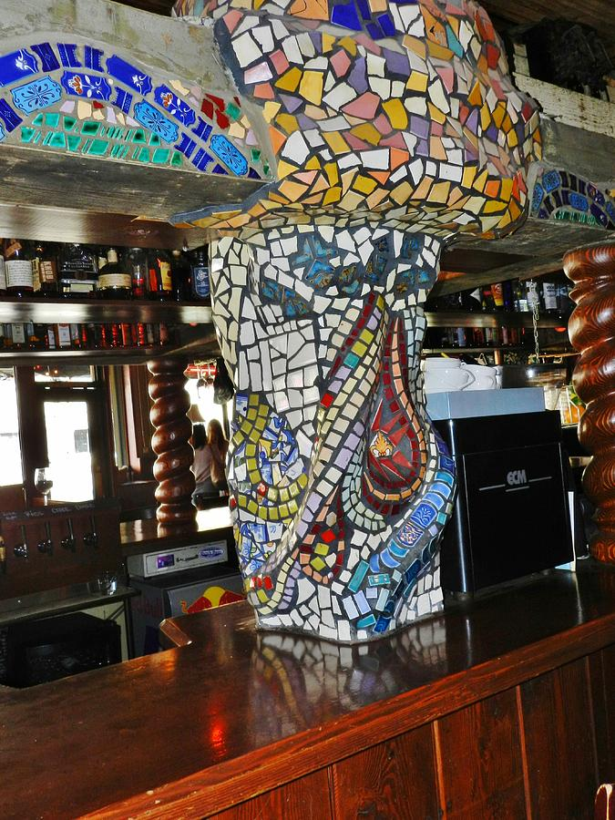 Mosaic Pillar Ceramic Art - Mosaic Pillar by Charles Lucas