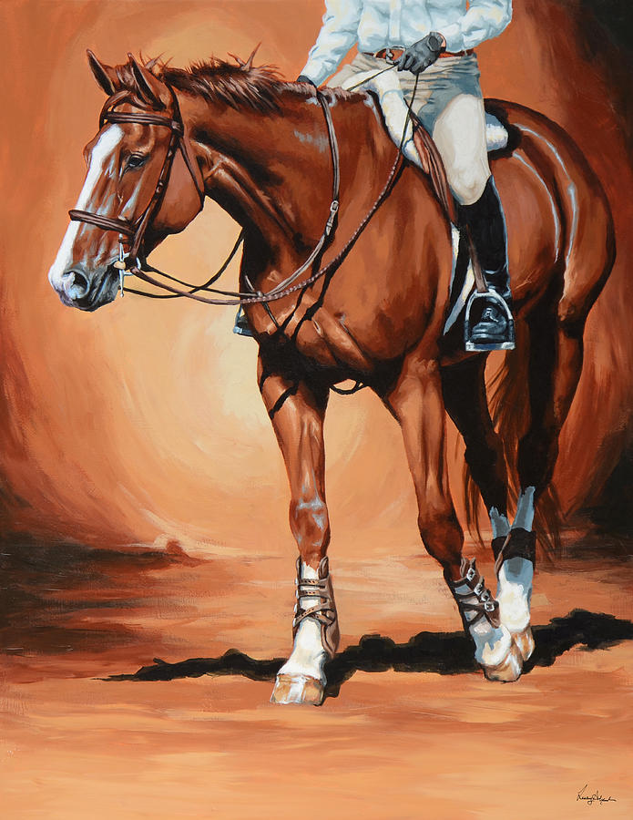 Horse Painting - Untitled by Lesley Alexander