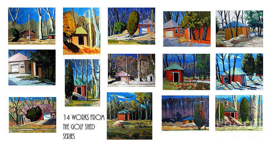 14 Works From The Golf Shed Series Photograph  - 14 Works From The Golf Shed Series Fine Art Print