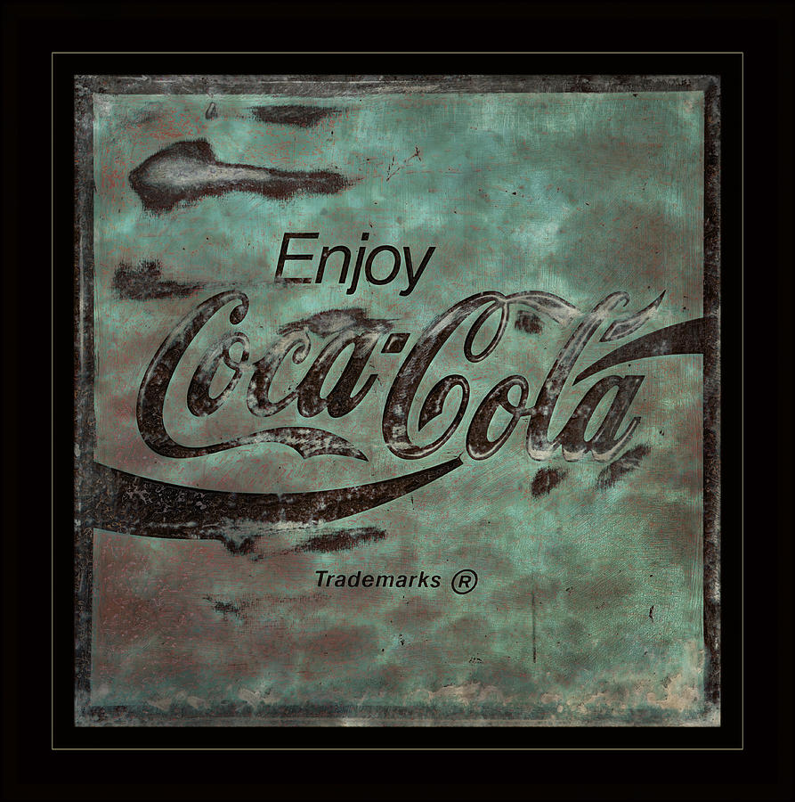 Coca Cola Photograph -  Coca Cola Sign Grungy Retro Style by John Stephens