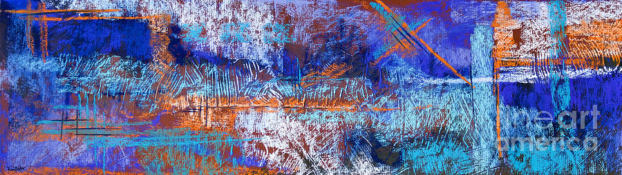 Abstract Pastel - Under Construction by Tracy L Teeter