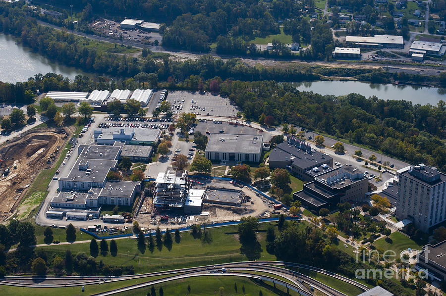 aerials of WVVU campus Photograph