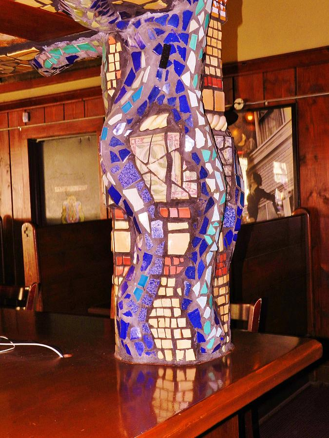 Mosaic Pillar Ceramic Art  - Mosaic Pillar Fine Art Print