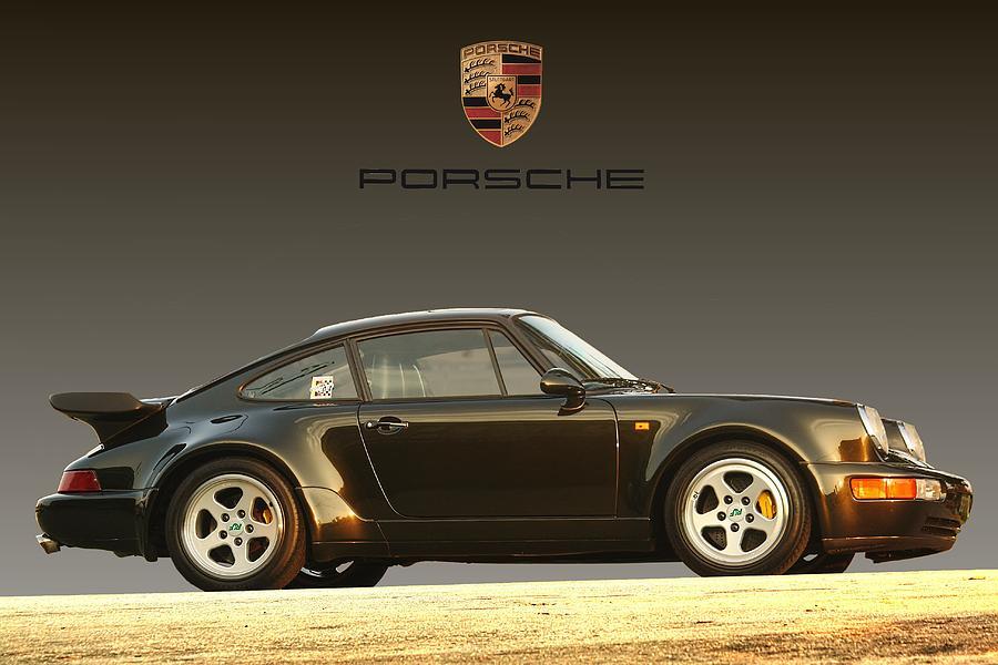 Porsche Digital Art - Porsche 911 3.2 Carrera 964 Turbo by Ganesh Krishnan