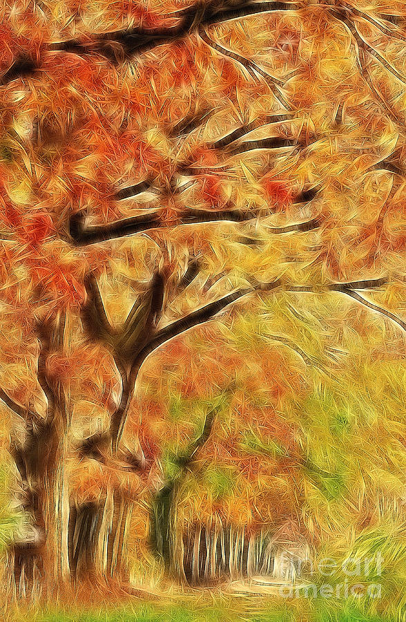 Autumn Painting Photograph  - Autumn Painting Fine Art Print