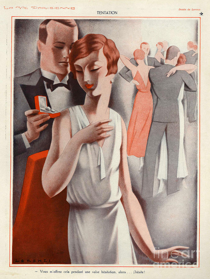 La Vie Parisienne 1920s France Cc Drawing