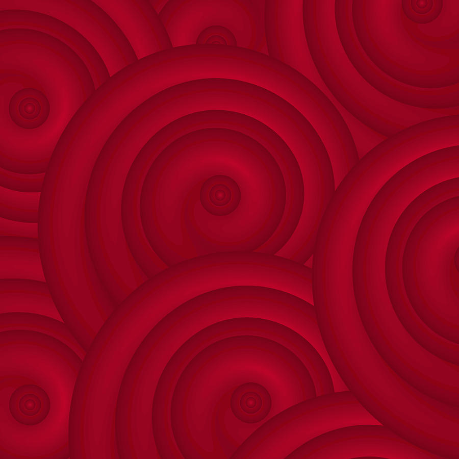 Red Abstract Artwork on Canvas