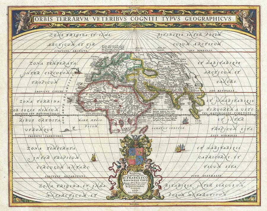 1650 Jansson Map Of The Ancient World Photograph