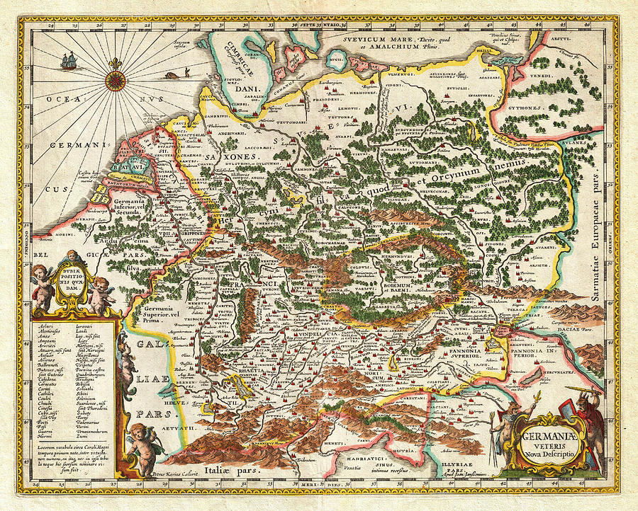 1657 Jansson Map Of Germany Germania Geographicus Germaniae Jansson 1657 Painting