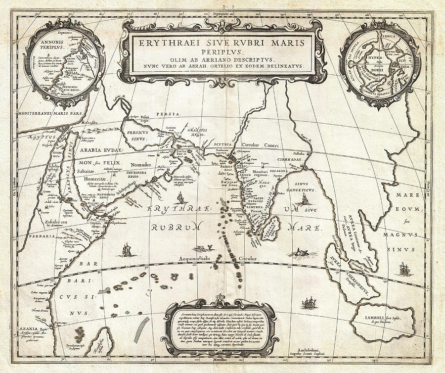1658 Jansson Map Of The Indian Ocean Erythrean Sea In Antiquity Geographicus Erythraeansea Jansson 1 Painting  - 1658 Jansson Map Of The Indian Ocean Erythrean Sea In Antiquity Geographicus Erythraeansea Jansson 1 Fine Art Print