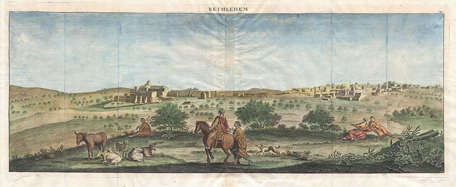 1698 De Bruijin View Of Bethlehem Palestine Israel Holy Land Geographicus Bethlehem Bruijn 1698 Painting