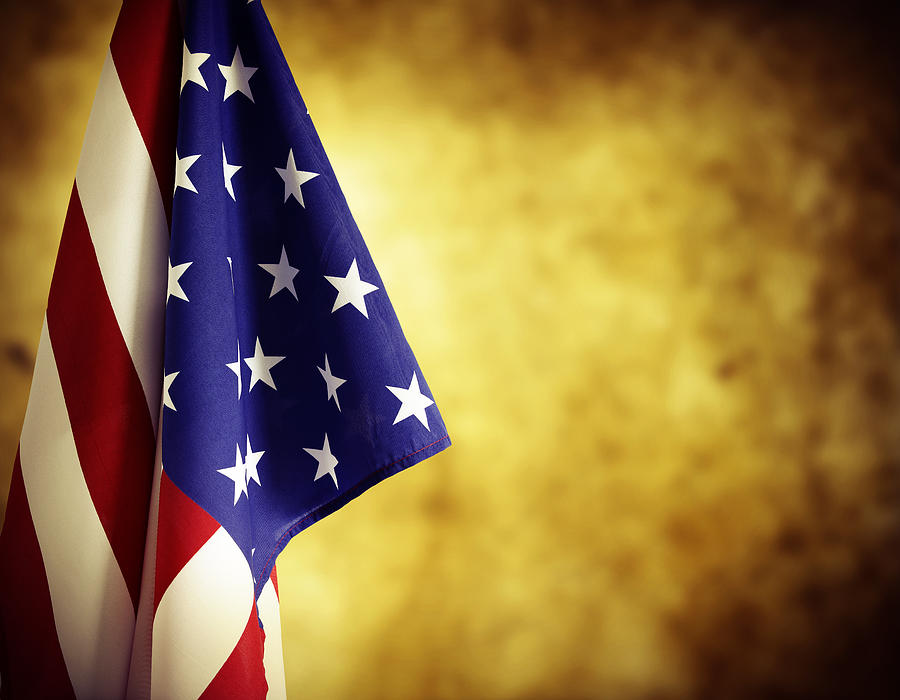 Government Photograph - American Flag by Les Cunliffe