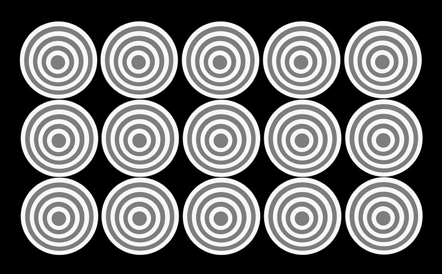 180 Circles Grayscale Photograph