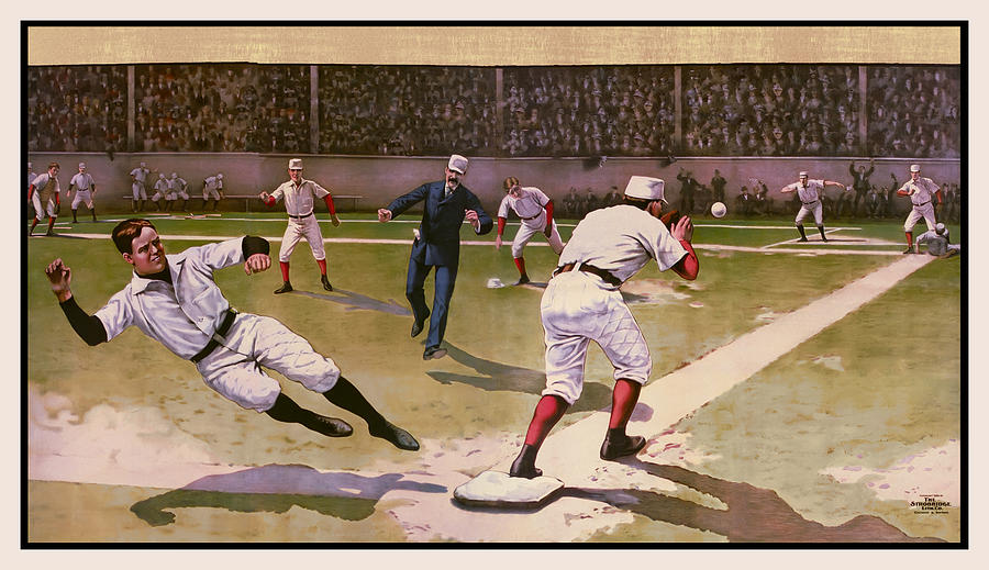 1898 Baseball -  American Pastime  Digital Art