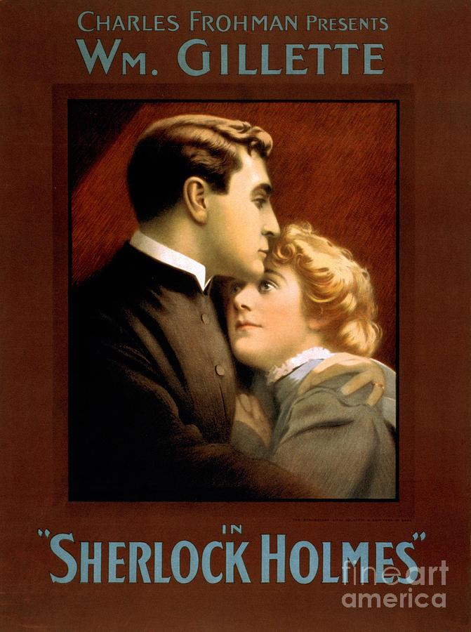 1900s Uk Sherlock Holmes Poster Drawing