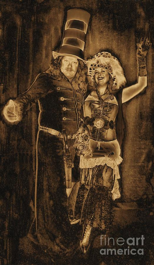 1900s Vintage Steampunk Mixed Media