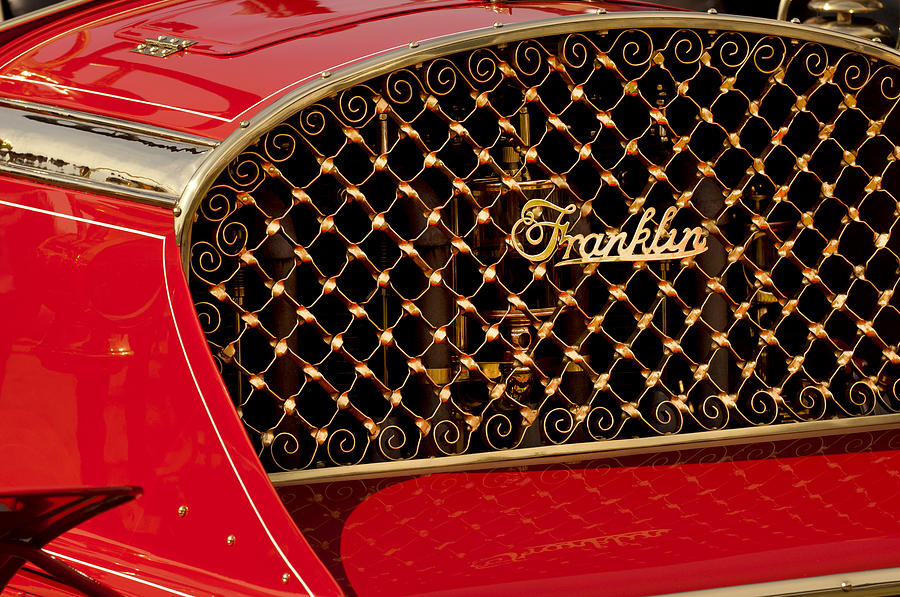 1904 Franklin Open Four Seater Grille Emblem Photograph