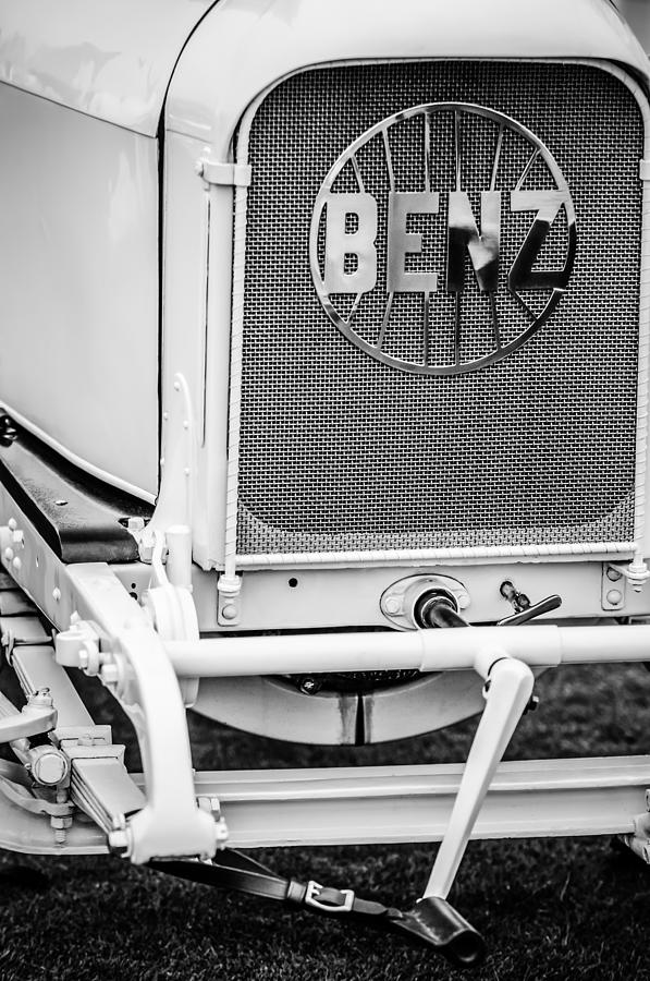 1908 Benz Prince Heinrich Two Seat Race Car Grille Emblem -1696bw Photograph
