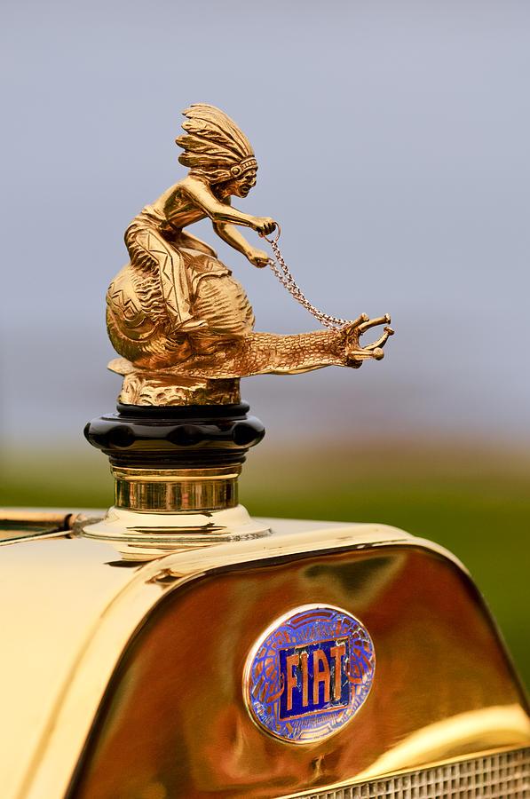 1911 Fiat Tipo 6 Holbrook 4 Passenger Demi-tonneau Hood Ornament Photograph
